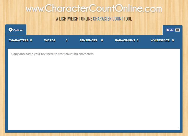 Character Count Online - Textarea