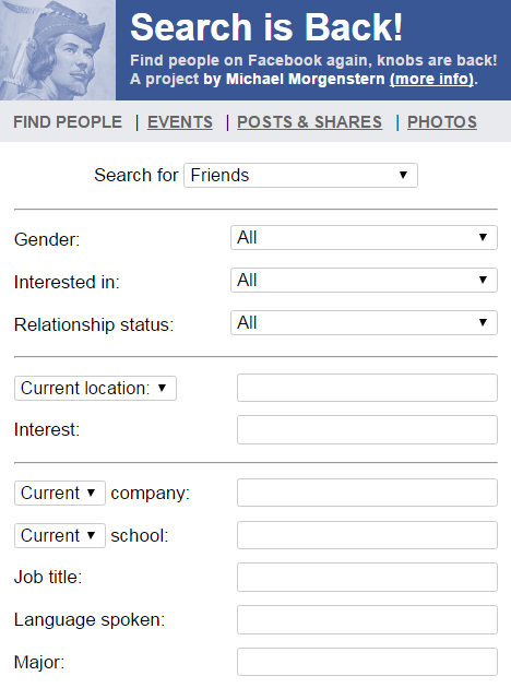 Search is Back - Find people