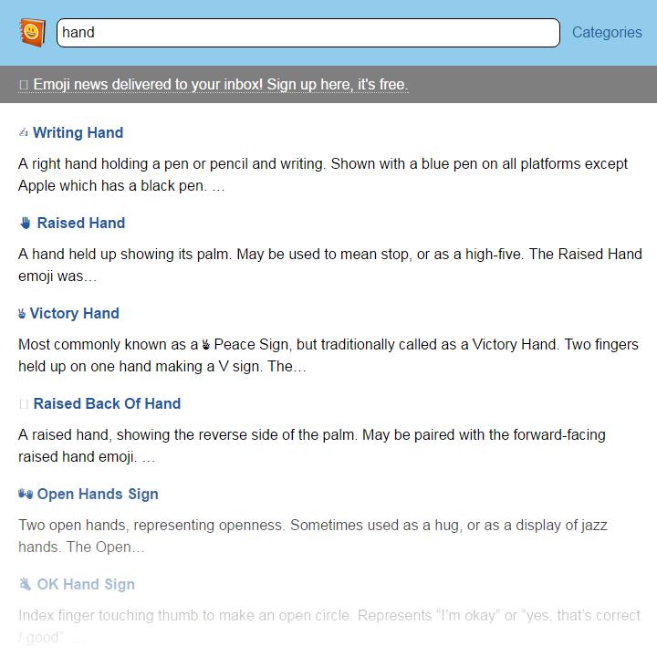 Emojipedia - Results