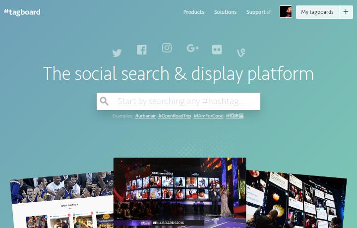 Tagboard - Homepage