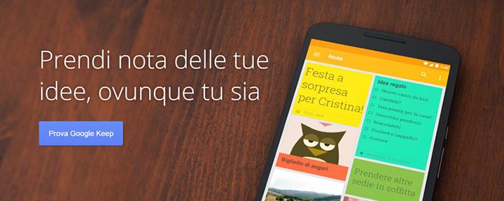 Crea post-it sul desktop e sullo smartphone con Google Keep